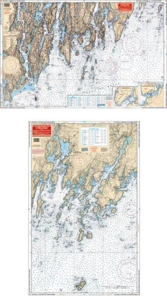 Tenants Harbor Maine Map.Waterproof Charts Cape Small To Boothbay Tenants Harbor Maine