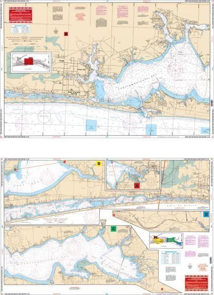 Florida Intracoastal Waterway Map.Waterproof Charts Fort Walton Beach To Destin Intracoastal Waterway I C W Florida Nautical Marine Charts