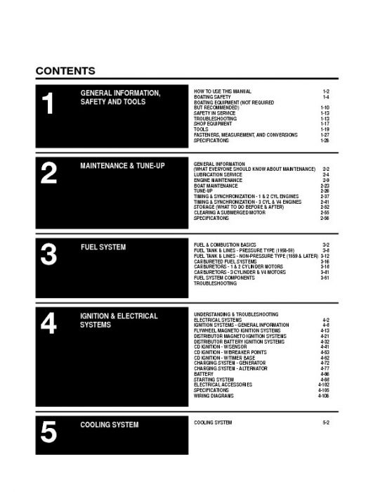 Seloc Johnson Evinrude Outboards 1 5-125HP 1958-1972 Repair Manual 1-3  Cylinder, 2 Stroke