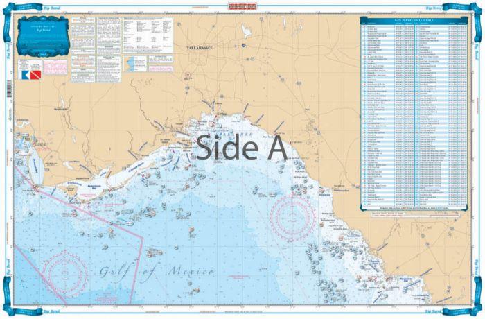 Waterproof Charts Big Bend, Florida Fish & Dive Nautical Marine Charts
