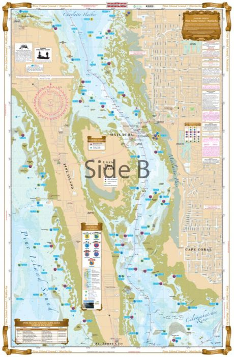 Waterproof Charts Pine Island Sound, Matlacha, Florida Nautical Marine  Charts