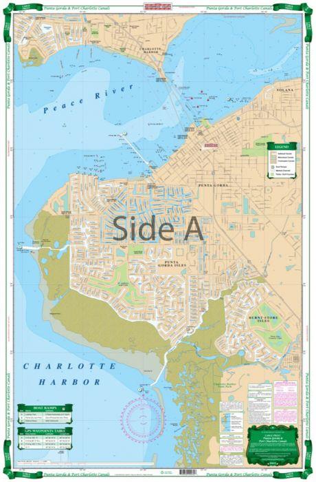 Waterproof Charts Punta Gorda Isles & Port Charlotte Canals, Florida  Nautical Marine Charts, Large Print