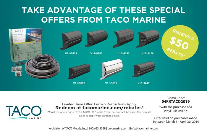 Flexible Vinyl Rub Rail Kit, V11-2423 - Taco Marine