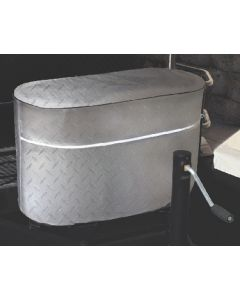 Adco Products Tank Covr-Lp Gas Dbl 40 Silver - Patterned Tank Cover