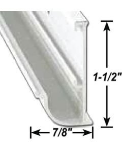 AP Products Gutter Rail Pw 16' @5 - Insert Gutter - Drip Rail