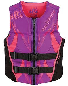 Full Throttle Women's Hinged Rapid-Dry Flex-Back Vest, Large Purple