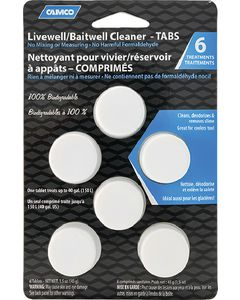 Camco Livewell & Baitwell Cleaner Tabs, 6/pk