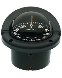Ritchie Helmsman Compass, Open Face Dial, Flush Mount, Black