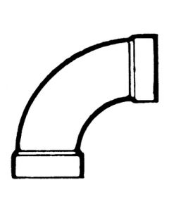 Bristol Products 1/4 Long Bend 1 1/2In Abs - Plastic Dwv Fittings - Abs