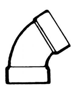 Bristol Products 60 Elbow 1 1/2In Abs - Plastic Dwv Fittings - Abs