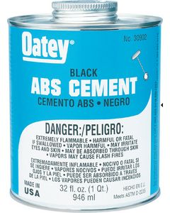 8Oz Abs Cement Black - Abs Cement