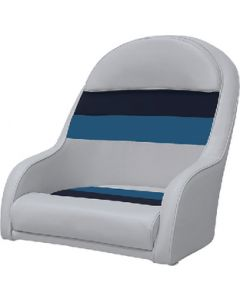 Wise Deluxe Pontoon Bucket Style Captain's Chair, Light Grey/Navy/Blue