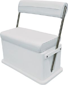 Wise Offshore Livewell Cooler Seat with Stainless Steel Arms, White