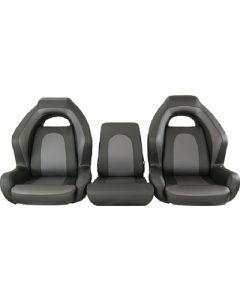 Springfield Ozark Bass Seat, 3pc Bench, Charcoal & Gray