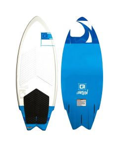 O'Brien Maha Wakesurfer, Blue-White, 4'5""