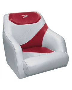 Wise Traditional Style Bucket Seat Contemporary Series, Gray-Red