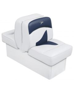 Wise Back-to-Back Lounge Seat Contemporary Series - White-Blue