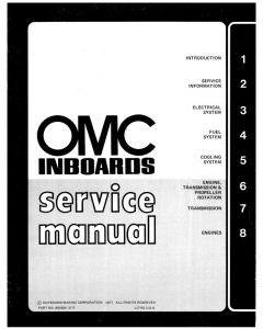 Ken Cook Co. OMC Sail Drive Owner's Manual 388330