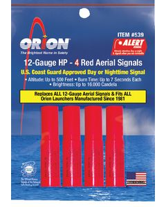 Orion Safety Products Hp 4-Pack 12 Gauge Red Aerial