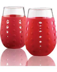 Hydra Sip Red Glasses 2/Pk - Hydra Sip Glasses
