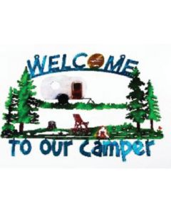 Welcome To Our Camper Art - Welcome To Our Camper Metal Art