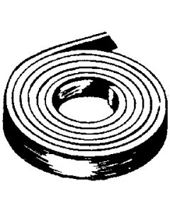 Foam Seal 1 1/2 Paper Cap Tape  Black - Cap Tape