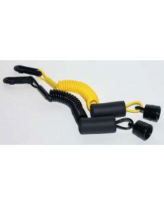 PWC Parts Sea Doo Floating DESS Wrist Lanyard Yellow/Black