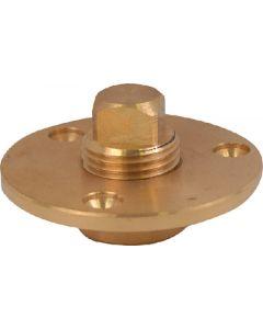 "Attwood Cast Bronze Garboard Drain Plug 1/2"" NPT"