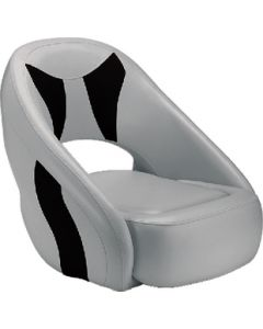 Attwood Avenir Sport Upholstered SAS Seat w/Flip-Up Bolster, Gray/Black