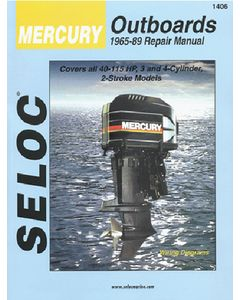 Seloc Mercury Outboard ONLY, 2-40HP 1965-1989 Repair Manual 1-2 Cylinder, 2 Stroke