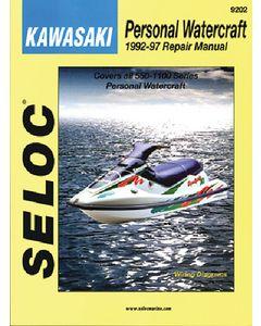 Seloc Kawasaki Jet Ski PWC 1992-1997 Repair Manual All 550-1100 Series Personal Watercraft