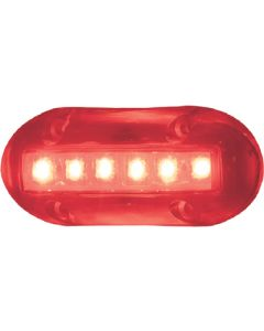 T-H Marine High Intensity LED Underwater Lights, 6 Red LEDs