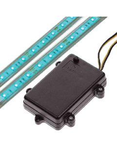 "TH Marine Battery Operated LED Strip Light Kit, Blue, 18"""
