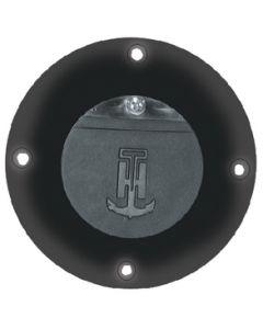 T-H Marine Supply Flush Mount Scupper Adapter, Black/Black Flapper
