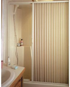 Irvine Shade & Door Pleated Shower Door Rh Ivory - Pleated Shower Doors