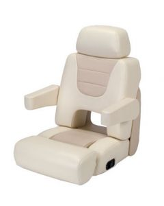 Garelick Eez-In Commander II Yacht Helm Seat, Light Almond/Tan