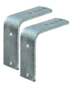 """Tie Down Engineering Flush Brackets, For 8"""" And 12"""" Metal Fenders"""