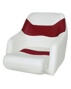 Wise Bucket Seat 1205 with Arms and Flip-Up Bolster, Brite White-Dark Red