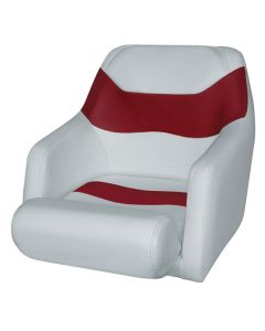 Wise Bucket Seat 1205 with Arms and Flip-Up Bolster, Marble-Dark Red