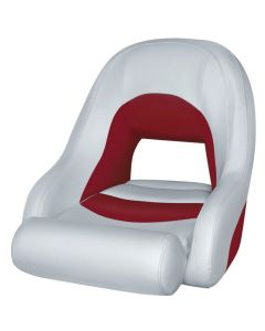 Wise Bucket Seat 1156 with Flip-Up Bolster, Marble-Dark Red