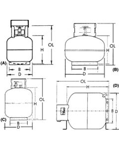 Manchester Tank Co 40# Steel Dot Propane Cylinder - Steel Dot Propane Cylinder