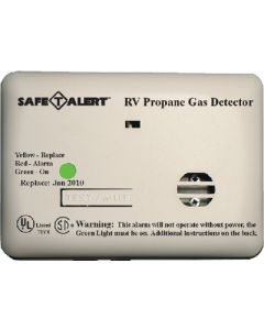 Alarm-12V Surface Mnt Lp White - Mini Rv Propane/Lp Gas Alarm