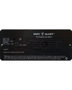 Alarm-12V Flush Mount Lp Black - Lp Gas Alarm With Hook & Loop Mount