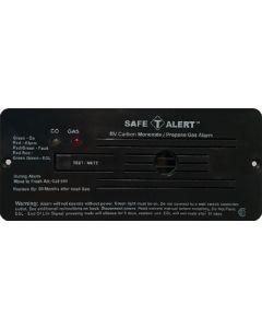 Alarm-12V Flush Mnt Lp-Co Blk - 35 Series - Dual Propane/Lp And Carbon Monoxide Alarm