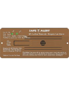 Alarm-12V Flush Mnt Lp-Co Brn - 35 Series - Dual Propane/Lp And Carbon Monoxide Alarm