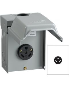 Midwest Electrical 30 Amp Surface Unmetered - 30 Amp Heavy Duty Power Outlet