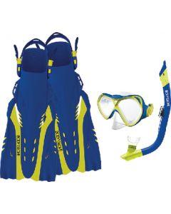 Body Glove Vests Snorkel Set Blue/Citron S/M