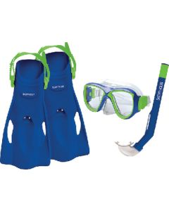 Body Glove Vests Snorkel Set Kid Blue/Lime L/Xl