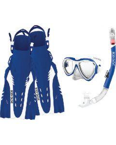 Body Glove Vests Aruba Mask Snork&Fin Blu Wht