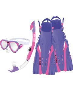 Body Glove Vests Snorkel Set Women Pink/Prp